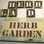 Stencil a Wood Garden Sign