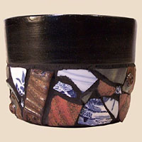 Terra-Cotta Mosaic Planter