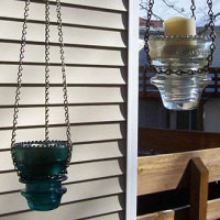 Make an Insulator Votive Candle Lantern