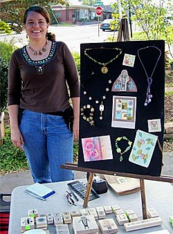 Carolyn Exhibiting at Craft Show