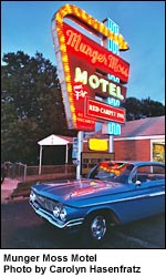 Munger Moss Motel Neon Sign