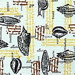 Rubber Stamped Pattern with Sea Life