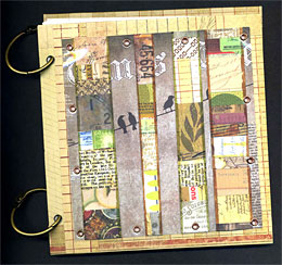 Use Up Those Paper Scraps! Journal With Collaged Cover
