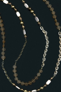 "68"" Long Shades of Brown Necklace."