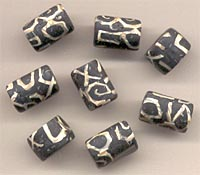 Polymer clay beads.