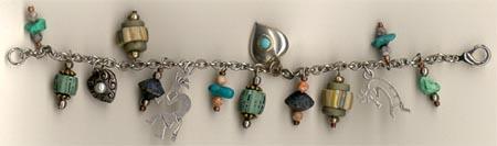 Southwest themed charm bracelet.