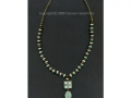 Aqua and brown necklace with style stones.