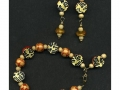 Asian bracelet and earrings made with rubber stamped Style Stones.