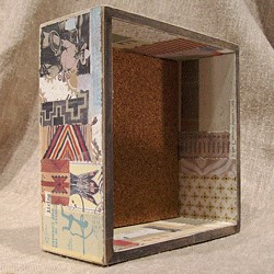 Here is one of the shadow boxes that I sold.