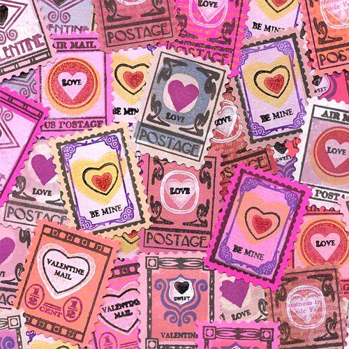 Valentine Faux Postage