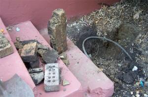 """My """"dirt mine"""" - also a brick mine!"""