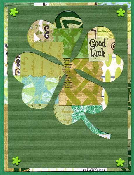 St. Patrick's Day Card with collage