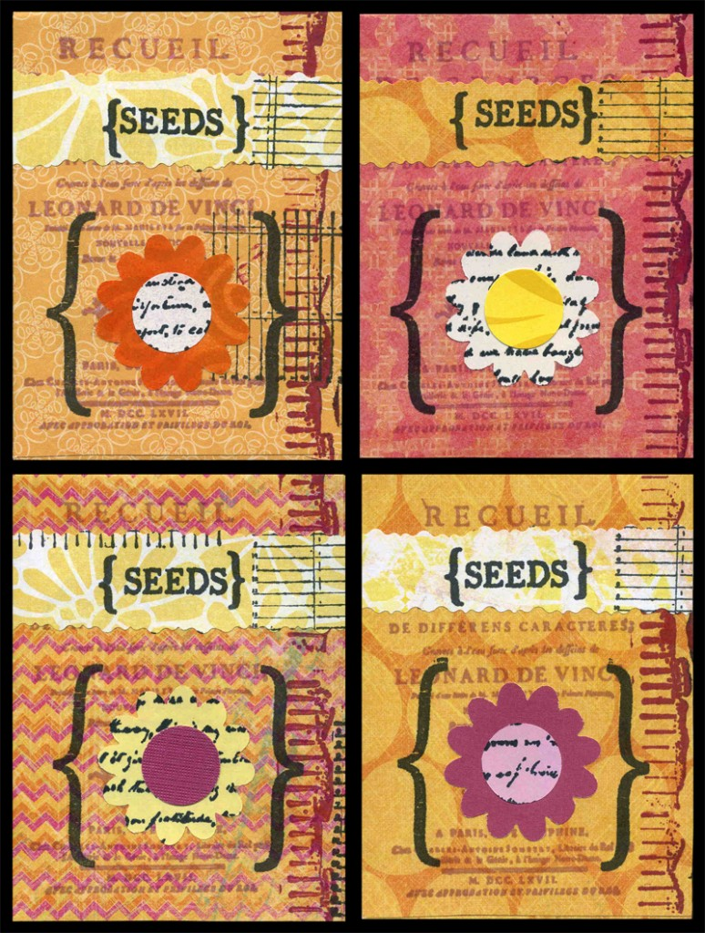 decorated paper seed packets