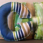 Kid's Hand Sewn Initial Letter