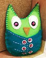Sew a Felt Owl with a Pocket