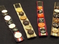 Button bracelets made of recycled bias tape, ribbon and buttons. Velcro closure.